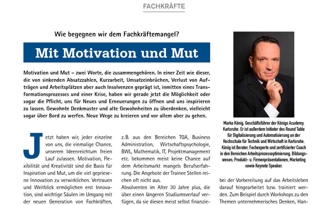 Mit Motivation & Mut – Bericht Wirtschaftsmagazin IHK