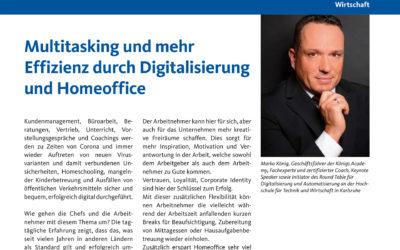 Multitasking und mehr Effizienz durch Digitalisierung und Homeoffice